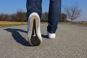 One of the Best Memory Improvement Strategies - photo of walking feet