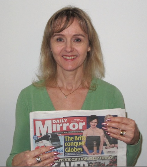 Lysette Offley talks about Anthony Worrall Thompson and shoplifting. Article in the Daily Mirror 17.01.12