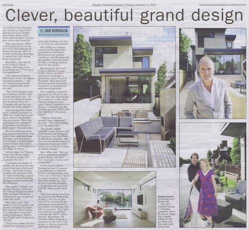 Grand Designs River Thames Nigel and Lysette Offley build their dream home