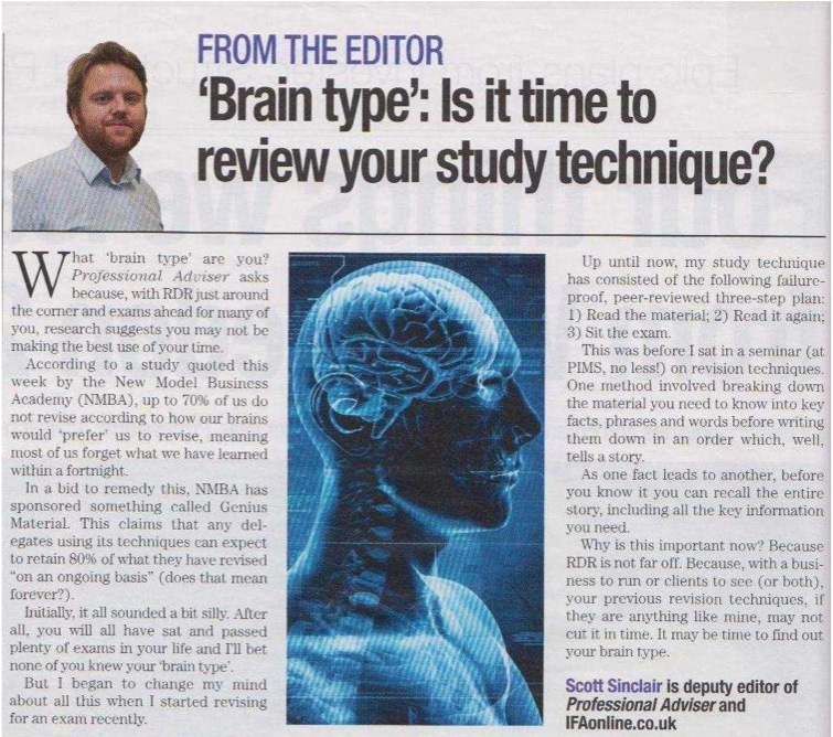 Brain type and learning preferences Professional-Adviser 07.07.11