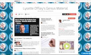 Lysette Offley's Genius Material Newspaper