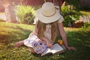 Learning is fun! Or is it? Photo of girl reading