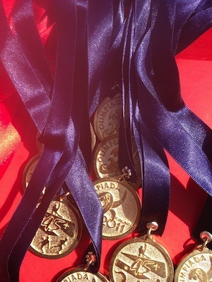 Learning is fun! Or is it? Photo of medals