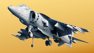 Guess who's coming to dinner? Boris Johnson, that's who! Photo of Harrier Jump Jet