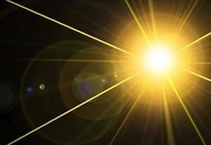 Laser-sharp mental focus - photo of laser beam