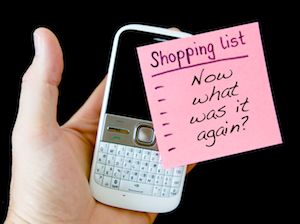 How to remember stuff - photo of blank shopping list