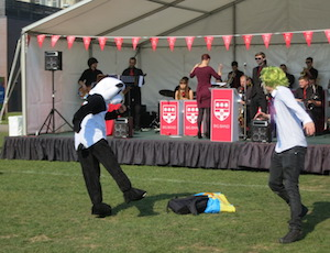 Reading University's world record attempt - photo of boys dancing