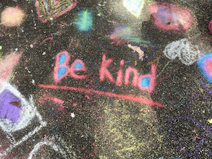 """What cost improving self-esteem - Writing says """"Be kind"""""""