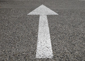 It's a sign! - photo of painted arrow on road