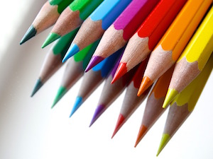 Why writing lines really is punishment - photo of coloured pencils