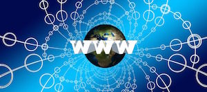 Not waving, but drowning - image of world wide web